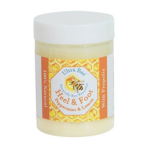 Crema 100% Natural para Talones & Pies Agrietados con Miel & Menta de 100ml