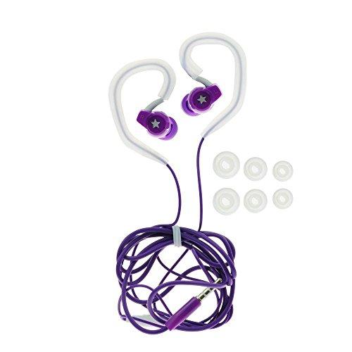 handy-point Universal Sport Music Stereo Over-the-Ear Headset Headphones for Running, Jogging And Microphone-Suitable for MP3, iPod, iPad, iPhone, and Mobile Phones (3.5mm) Walkman-Smartphones: Samsung, Nokia, LG, Huawei, ZTE, Alcatel, Motorola, Sony Sportkopfhörer - Lila (Jogging-walkman-headset)