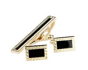 Lodestar Golden Nebula Boutons de manchette et pince à cravate - B-46