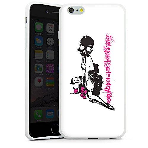 Apple iPhone X Silikon Hülle Case Schutzhülle Pin up Girl Totenkopf Schädel Silikon Case weiß