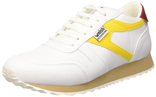 Walsh Vs-a, Gymnastique Homme Multicolore (Blanc/Maize/Ruby Wine)