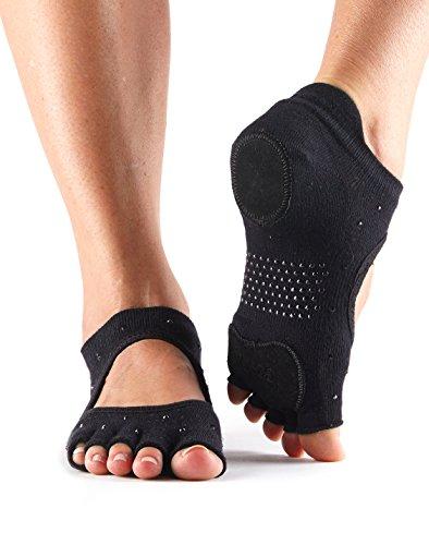 Surepromise-Calze Half Toe Sox-Prima Bellarina Dance Nightlife (Black with Rhinestone)
