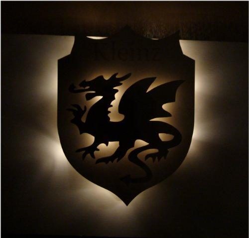 Schreiben Wappen (Familienwappen Wappen Haustürschild Familienschild - mit Ihrem Namen)