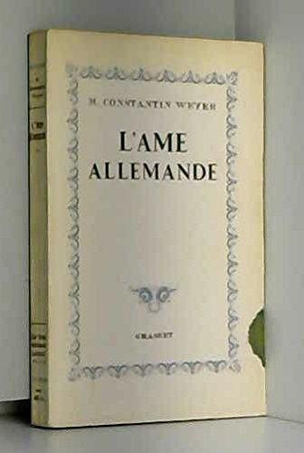 L'âme allemande par Constantin Weyer Maurice