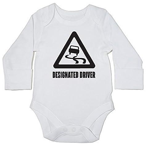 HippoWarehouse Designated Driver baby vest bodysuit (long sleeve) boys girls