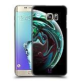 Head Case Designs Smaragdgruen Acryl Giessende Planeten Ruckseite Hülle für Samsung Galaxy S6 Edge+ / Plus