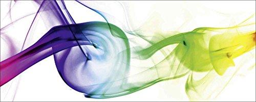 Artland Qualitätsbilder I Glasbilder Deko Glas Bilder 125 x 50 cm Abstrakte Motive Gegenstandslos Digitale Kunst Bunt D8RS Rauch - Abstrakt