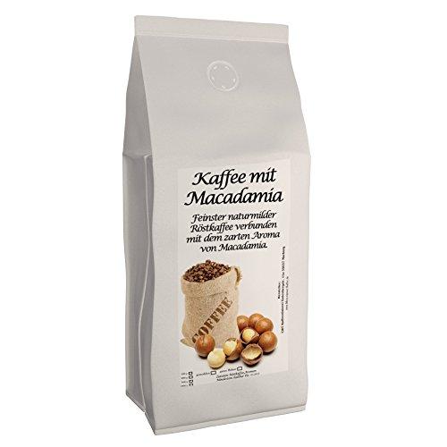 Aromakaffee - aromatisierter Kaffee Macadamia, 500 g ganze Bohnen - Spitzenkaffee - Schonend Und...