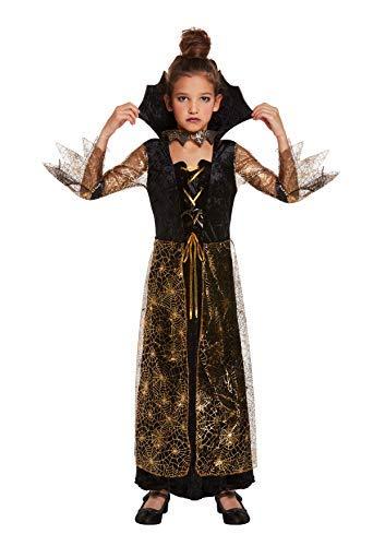 Kinder Spiderella'kostüm - Spiderella Spinnen Frau Kostüm - Kindergröße L