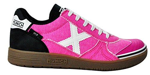 Munich G3, Baskets Mixte Enfant PINK/WHT