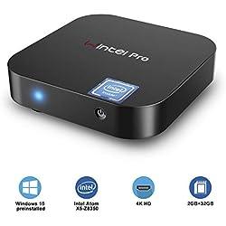 Mini PC - Mini Ordinateur ACEPC Windows 10 Pro(64 Bits) sans Ventilateur,Ordinateur de Bureau(Intel Atom x5-Z8350 DDR3 2GB+32GB eMMC Graphic HD WiFi Double 2.4G+5G BT4.2 LAN à 1000 Mbps