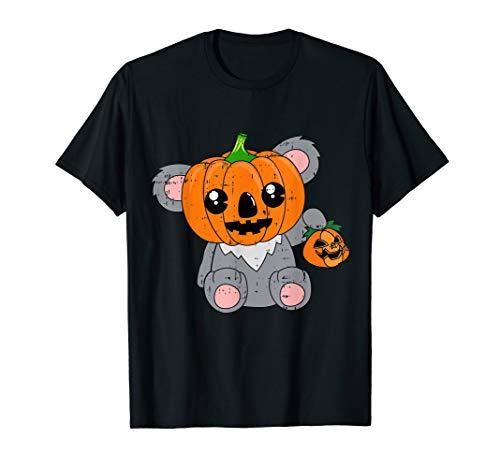 Koala Kürbis-Kopf-Kostüm Witziges Tier-Halloween-Geschenk T-Shirt (Koala Kinder Kürbis Kostüm)