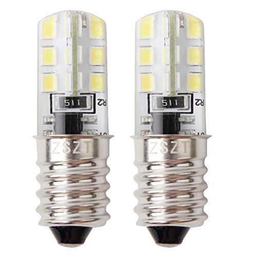 E14 lampadina frigorifero 2w (25w alogena lampadina equivalente) bianco fredda 6000k ac220-240v, lampadina impermeabile, confezione da 2 unità