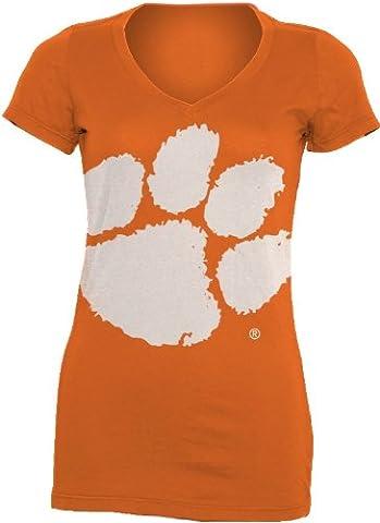 NCAA Clemson Tigers Damen V-Neck Tee Shirt Gigantor, Herren, Clemson Tigers