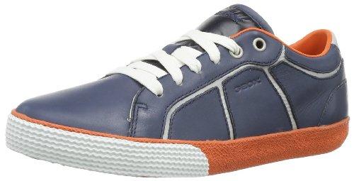 Geox J SMART BOY C J42A8C0TDFUC0659, Sneaker Bambino, Blu (Blau (NAVY/ORANGE C0659)), 32