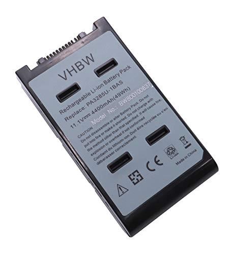 vhbw Batterie 11.1V 4400mAh pour Toshiba Satellite, remplace Les modèles PA3284U-1BAS, PA3284U-1BRS, PA3285U-1BAS