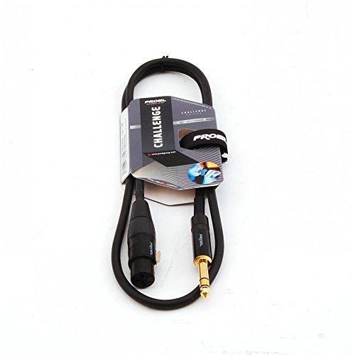 Proel CHL210LU5 Cavo Professionale Bilanciato Jack Stereo 6,3 a Cannon XLR F 5mt