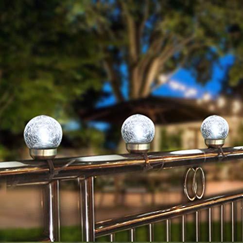 Uonlytech Luci di recinzione solare, luci di crepa ringhiera esterna con decorazione fasciatura per giardino di casa