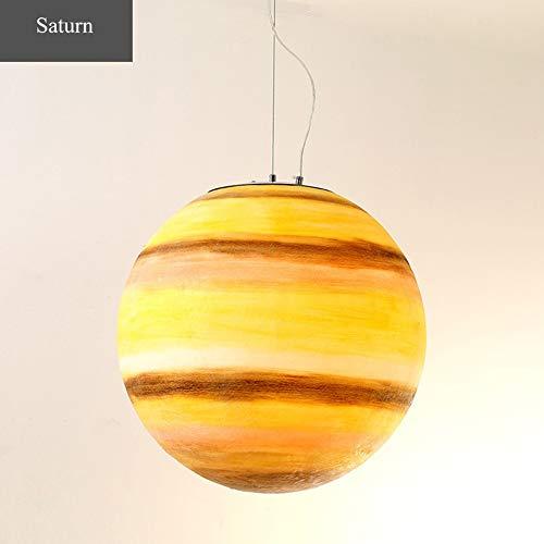 QLIGHA Moderne pendelleuchten Saturn Muster Universum Planeten Serie für Restaurant Hotel Cafe acryl kronleuchter Suspension Beleuchtung -