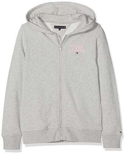 Tommy Hilfiger Jungen Sweatjacke Essential Hilfiger Zip Hoodie, Grau (Grey Heather 004), 92