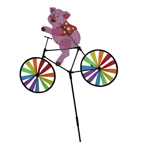 F Fityle Animal Bicicleta Molino De Viento Estatua