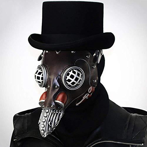 XBYUK Vogelkopf Maske mit Langer Nase Steampunk