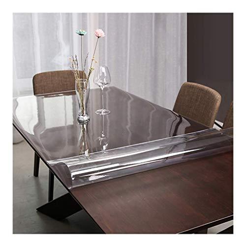MWPO Tischdecke PVC Tischdecke Öl und Antifouling leicht zu reinigen Pflege Tischset Couchtisch Kristallplatte Hause Tischdecke Tischdecke (Farbe: Transparent 1,5 mm, Größe: 70 * 140 cm)