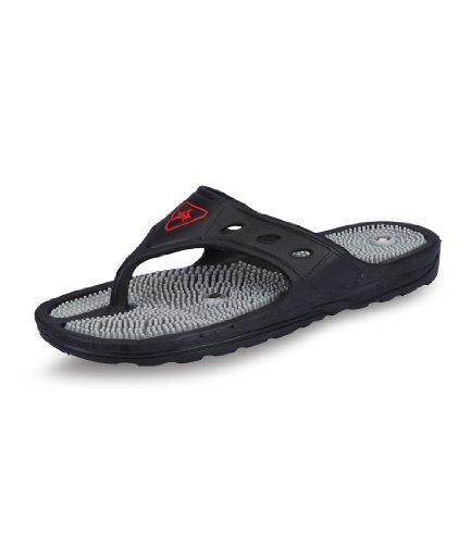 Unistar Unisex Acupressure Slippers - GH-01, Black, (Size 5)