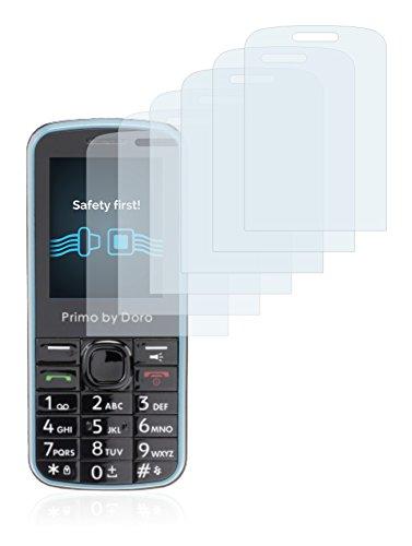 Savvies Schutzfolie für Doro Primo 305 [6er Pack] - klarer Displayschutz
