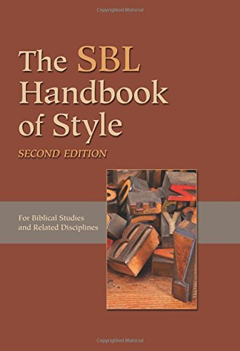 The SBL Handbook of Style by Society Of Bibl (September 1, 2014) Hardcover