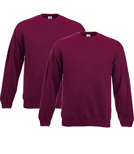 Fruit of the Loom Herren Sweatshirt Set-in Sweat Burgundy