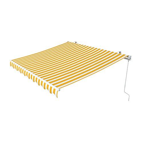 Ein&e Markise (paramondo Gelenkarmmarkise Easy, 2,5 x 2 m, Stoff: Block, gelb-weiß)