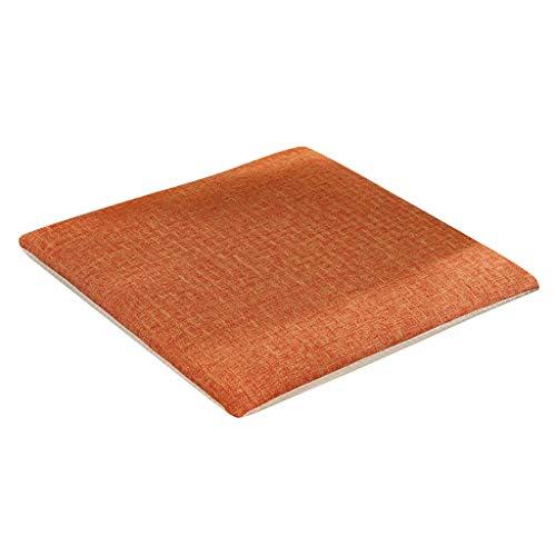 B Blesiya Dekokissen Stuhlkissen Zierkissen Gartenkissen Für den Esszimmerstuhl Gartenstuhl und Balkonstuhl - orange, 50x50 Harte Baumwolle