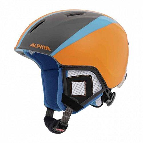 ALPINA Kinder Skihelm Carat XT, Titanium Orange Matt, 51-55 cm, 9080218
