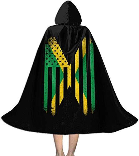 Halloween-Weihnachtskind-Cosplay mit Kapuze Robe-Kap-Mantel Jamaican Vintage Jamaica Flag Hoodie Devil Vampire Wizard