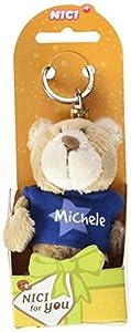 NICI n15890-Llavero Oso con Camiseta Michele, Azul