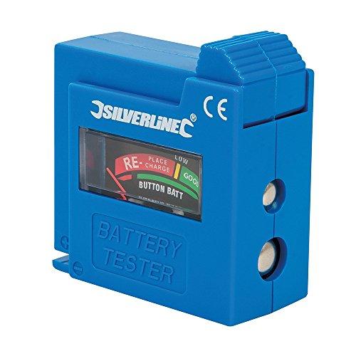 Silverline Kompaktes Batterieprüfgerät, 1 Stück, Schwarz, 918147
