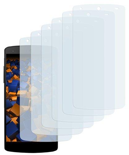mumbi Schutzfolie kompatibel mit LG Google Nexus 5 Folie klar, Displayschutzfolie (6x)