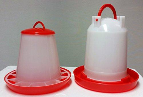 Futterspender für Geflügel 3 KG PLUS Stülptränke 3 Ltr. NEU: ANTIBAKTERIELL -