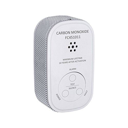 ELRO FC4510 Mini Kohlenmonoxid Melder - Batterie - mit Prüftaste und Warnanzeige, Weiß