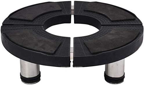 Dyttyun Schwarz-Edelstahl-Halterung Doppelter Schutz Klimaanlage Basis Stille Noise Reduction Bracket (Size : B) -