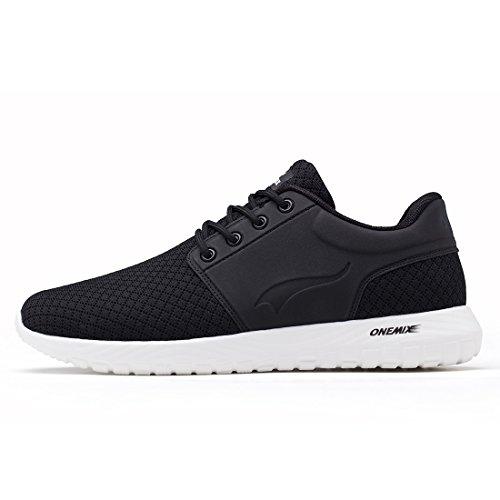 ONEMIX Homme Léger Chaussures de Course Respirant Air Coussin Sports Mesh Doux Semelle Chaussures de Sport
