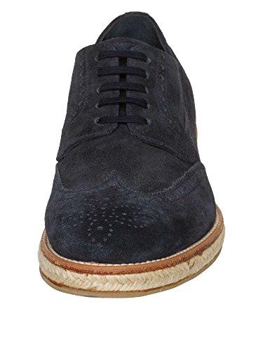 PRADA Messieurs Chaussures à lacets Daim bleu foncé