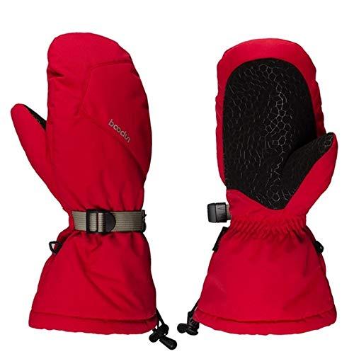 Sruma - 1 Paar Unisex Im Freien Ski Sport Anti-Rutsch-Ski-Handschuhe Winter Camping Warm Voll Hände Snowboard Reithandschuhe S Red Snowboard Shop Oxford