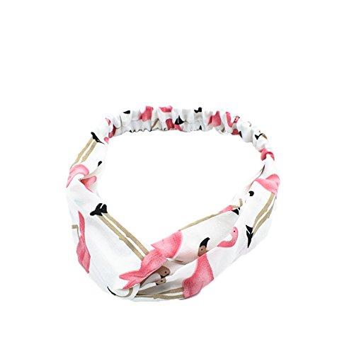Qinlee Elastische Stirnband Flamingo Muster Haarbänder Haar Accessoires Yoga Sport Kopftuch Mädchen Bandana Outdoor Sport Zubehör Frisuren Gestylten Haaren