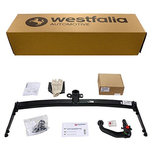 Westfalia abnehmbare Anhängerkupplung - AHK für VW Golf 7 Limousine, Audi A3, Skoda Octavia 3, Seat Leon - Im Set mit 13-poligem fahrzeugspezifischem Westfalia Elektrosatz