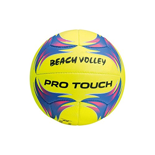 Pro Touch Beach-Volleyball Volley Beachvolleyball, Gelb/Purple, One Size (Beach-volleyball Pro)