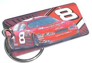Earnhardt Jr. Chevvy Monte Carlo No. 8 NASCAR Metal Keychain. Made In USA