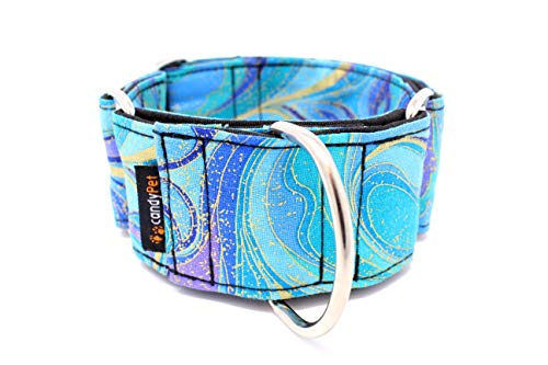 Candy Pet Martingale Hundehalsband - Modell Wellen