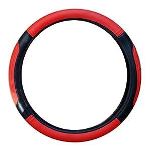 Vheelocityin Red And Black Maruti Suzuki New Baleno 2015 Steering Cover/Car Steering Cover
